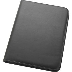 Promotional oakley folder large size a4 zip round folder including a zip pocket expanding compartment and a clear view business card holder a4 lined pad included colourmoves